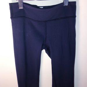 Navy Ivivva Cropped Leggings: Size 10